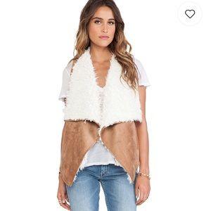 Ella Moss Jaden faux Sherpa vest fall knit layer